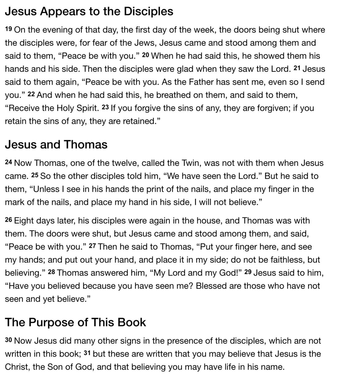 Gospel - John 20 19-31