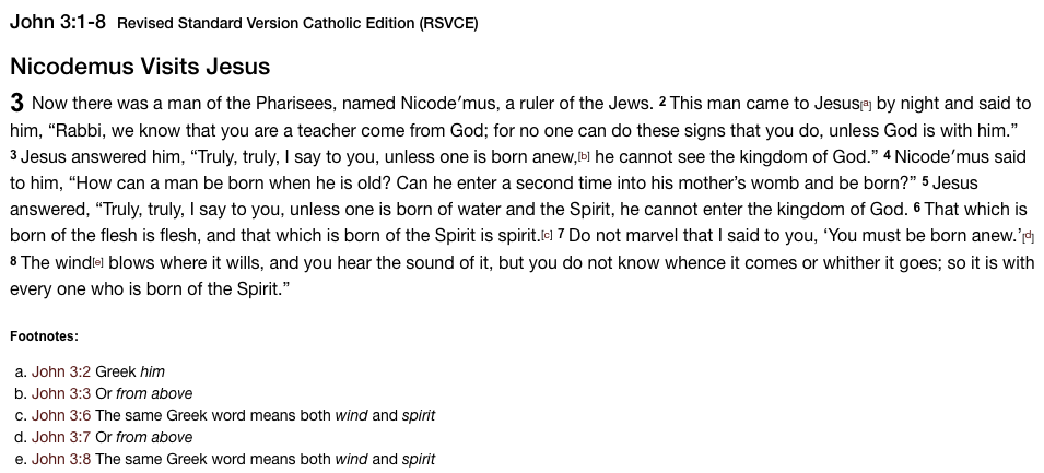 Gospel - John 3 1-8