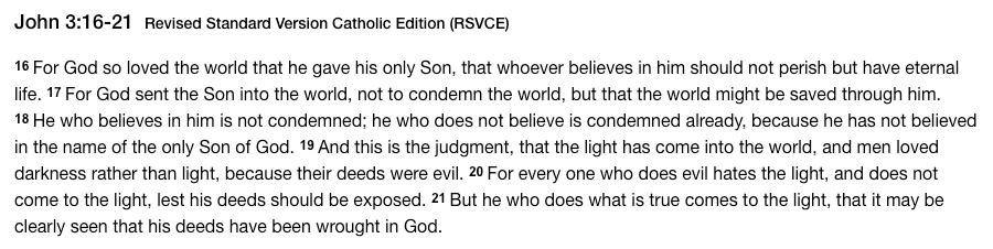 Gospel - John 3 16-21