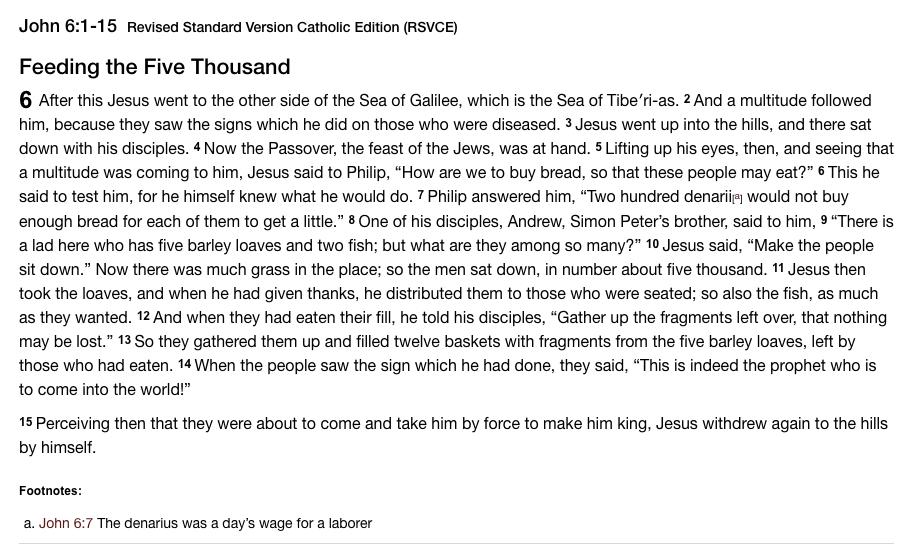 Gospel - John 6 1-15